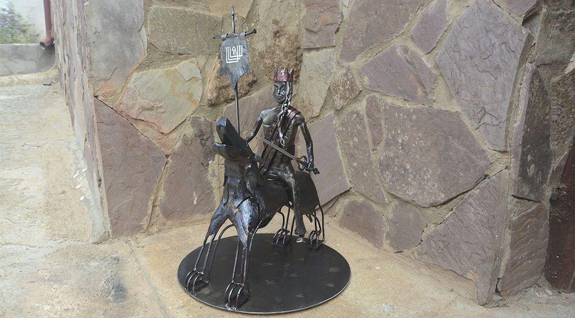 escultura en hierro forjado, Phaleg