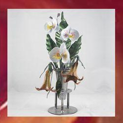 ramo flores en hierro