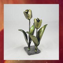 tulipanes en hierro