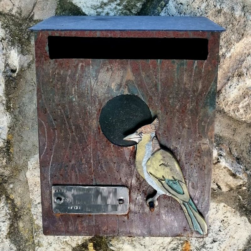 Buzón personalizado casa de pájaro 4